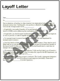 Layoff Letter