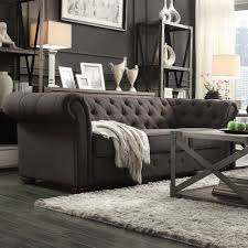 Full Size of Sofas Center:gray Chesterfield Sofa With Accent Furniture Grey  Velvet Charcoaleather Knightsbridge ...