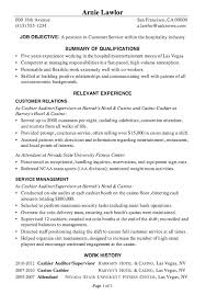 Hospitality Resume Objective Extraordinary Resume Sample Customer