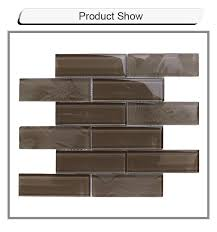hot tags brick mix solid crystal glass mosaic tile 2x8 bathroom tile china manufacturers factory whole customized