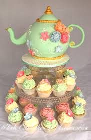 Kitchen Tea Cake Bridal Shower Tea Pot Cake And Cupcakes Kitchen Tea Koeke