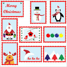 Stamps Template Christmas Postage Stamps Template Free Stock Photo Public