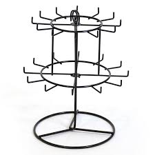 Keychain Display Stand Extraordinary Countertop Keychain Rack Revolving Black