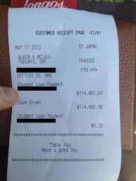 114k Student Loan Bill Receipt Business Insider