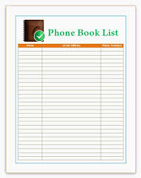 Printable Address Book Template Excel Printable Phone Book Template Luxury Best S Phone Directory Phone