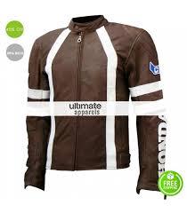 honda brown with white stripes motorcycle racing jacket 191 00 176 00