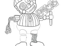 Coloring Pages Balloon Boy Coloring Pages Nightmare Best Image Of
