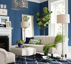 Blue Living Room With Pops Of Green. Pillow Talk Archives Banarsi Designs  Blog