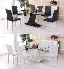 white glass dining table sets  with white glass dining table