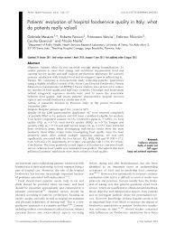 Dl Foodservice Design Pdf Patients Evaluation Of Hospital Foodservice Quality In