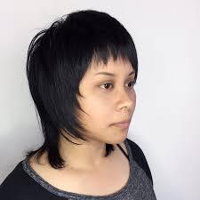 Skrillex Hair Style short shag cut with fringe bangs on dark hair womens eccentric 8132 by wearticles.com