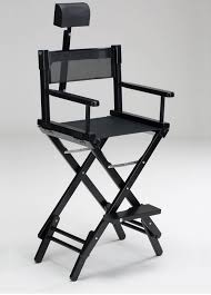 adjule makeup chair with headrest folding with footrest s102 n hr