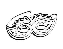 Small Picture Mardi Gras Coloring Pages Venetian Mardi Gras Mask Coloring Page