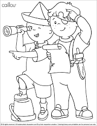 Caillou And Gilbert Coloring Pages Pages Caillou Easter Coloring