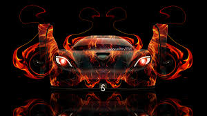 koenigsegg agera open doors fire abstract car