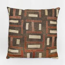 modern african furniture. red u0026 cream kuba cloth pillow by global girls dara artisans african furniturepillow modern furniture d