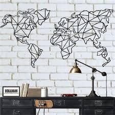 metal world map wall art 2 pieces
