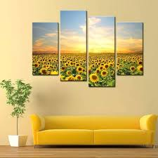 awesome and beautiful sunflower wall art with decoration spectacular inspiration sunflower wall art with 4 panels on sunflower wall art canvas with awesome and beautiful sunflower wall art with decoration spectacular
