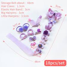 Raindo <b>18 Pcs</b>/Box <b>Children</b> Cute Hair Accessories <b>Set</b> Baby Fabric ...