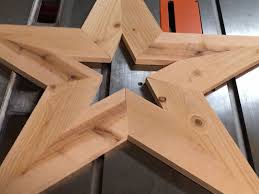photo of assembled diy wooden star