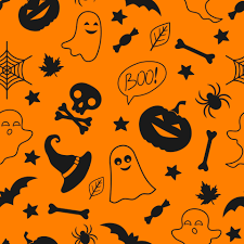 Seamless pattern with halloween ...