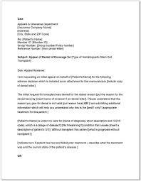 Standard Letter Standard Medicare Appeal Letter Templates