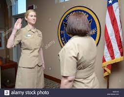 Lieutenant Commander Kerri Chase takes the Oath of Office as part of Stock  Photo - Alamy