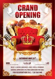 Free Grand Opening Flyer Template Download The Grand Opening Party Free Flyer Template