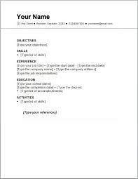 A Basic Resumes Discreetliasons Com Basic Resume Outline Sample Http Www