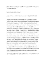 PDF) Desire, Violence, and the Passion in Fragment VII of the Canterbury  Tales: A Girardian Reading | Curtis Gruenler - Academia.edu