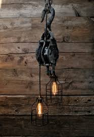 industrial lighting for the home. Lighting:Large Pulley Chandelier Block And Tackle Pendant Light Industrial Lighting Home Depot Drum Lowes For The E