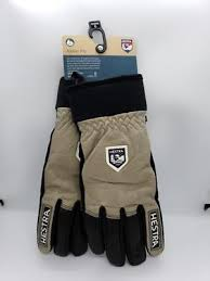 New Hestra Army Leather Wool Terry Gloves Size 7 8 Earth Brown Black Alpine Pro Ebay