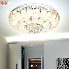 flush mount crystal chandelier amazing of chandeliers modern round ceiling lamp with drum shade home