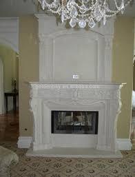 Fancy Fireplace Beige Marble Fancy Fireplace French Style Fancy Fireplace Mantel