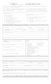 Free Incident Report Template Critical Incident Report