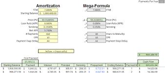 amortization formulas mortgage pool price given yield amortization vs mega formula