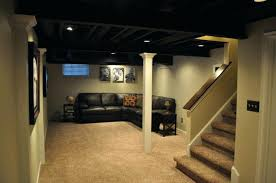 Sprayed Black Basement Ceiling Paint Unfinished Basement Ceiling