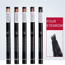 HANDAIYAN <b>1pc Eyebrow</b> Pencil 4 Head Brush Waterproof Liquid ...