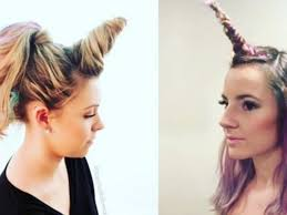 Nouvelle Tendance Tir E Par Les Cheveux La Coiffure Licorne Biba