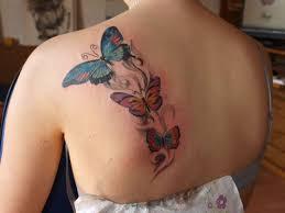татуировки для девушек фото бабочки