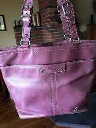switzerland purple leather coach handbag beautiful used bag 91277 39f