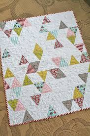 811 best Baby Quilt Inspiration images on Pinterest | Baby ... & Baby Quilt Triangle baby quilt by freshlypieced, Traffic Baby Quilt Front  Beautiful baby quilt Adamdwight.com