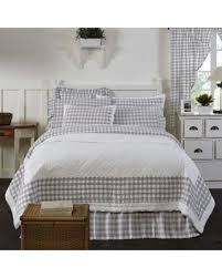 farmhouse quilt bedding. Delighful Quilt VHC Classic Country Farmhouse Bedding  Annie Buffalo Check Quilt With S