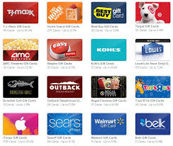 ed gift cards to places like regal jc penney outback starbuckore plus an extra 5 off any 60