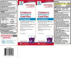 Multi Symptom Cold Childrens Plus Suspension Quality