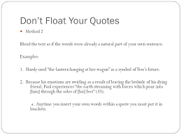 Quotes In A Sentence Simple Quote Flow How To Embed Textual Evidence Within A Sentence Ppt