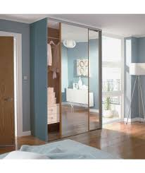 bedroom oak mirror sliding wardrobe door aura kit 2x24 inch at argos closet doors