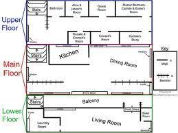 Cullen House Floor Plan  Cant Believe They Have Assigned Bed Cullen House Floor Plan