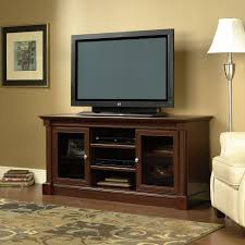 Cherry Wood Dvd Storage Cabinet Sauder 411865 Palladia Select Cherry Entertainment Credenza