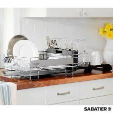 sabatier expandable compact dish rack with stemware rack